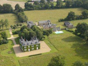 pays de la loire Chateau des Lutz aerial view