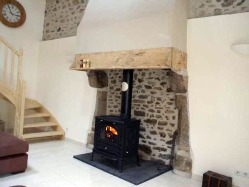 Renovated fireplace