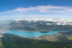 Lake Annecy aerial view