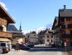 The rural village of Les Houches