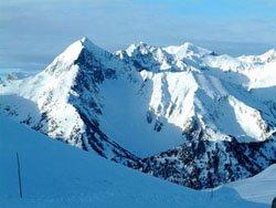 a view across the eastern Pyrenees mountain range
