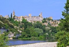 Aigueze and the Ardeche river