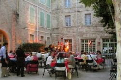 one of the many lovely bistros in Pezenas