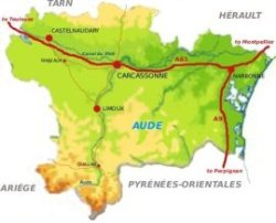 Map of the Aude