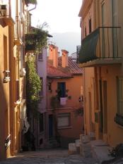 pretty streets in Collioure
