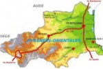 Pyrenees Orientales geographical map